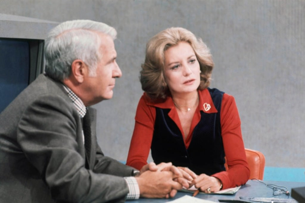 Barbara Walters and Harry Reasoner