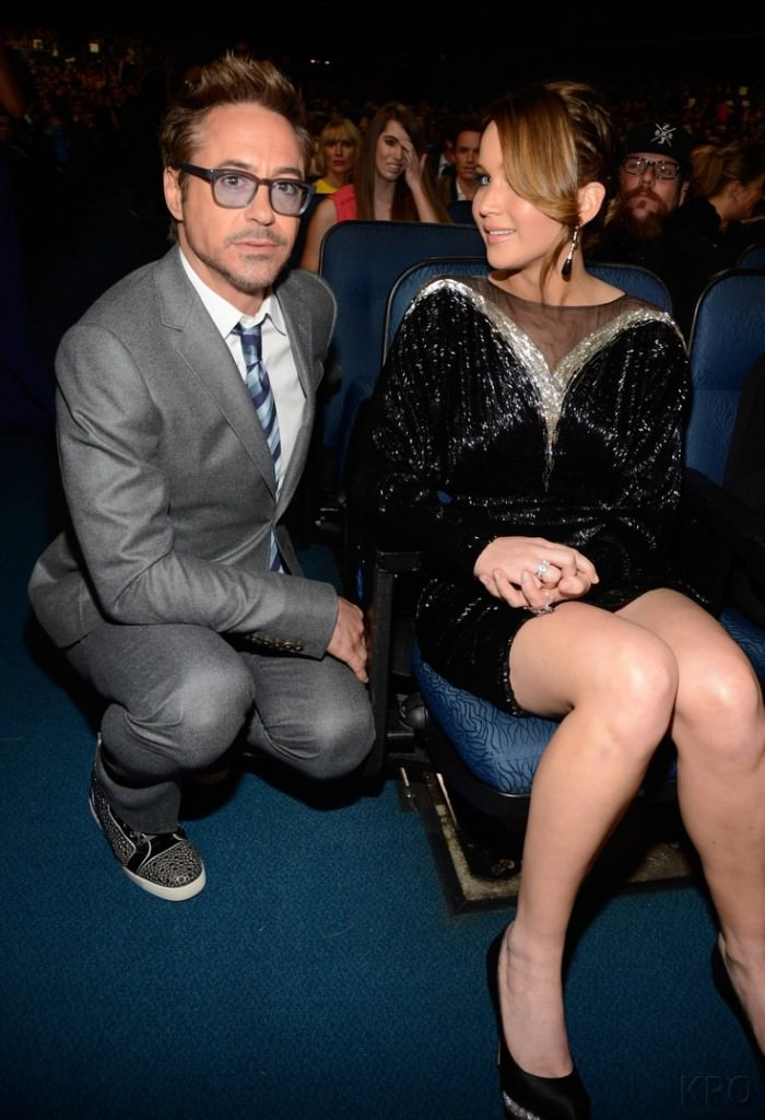Robert Downey and Jennifer Lawrence