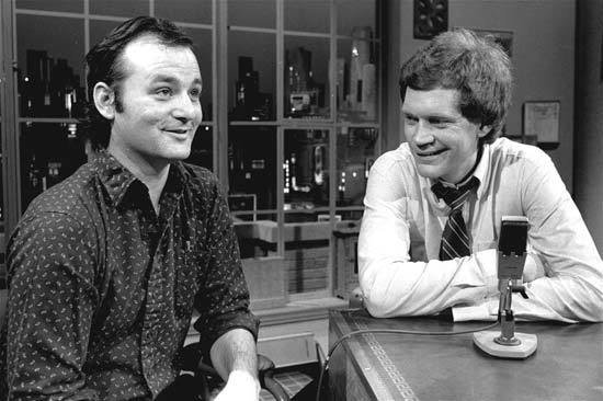 Bill Murray and David Letterman