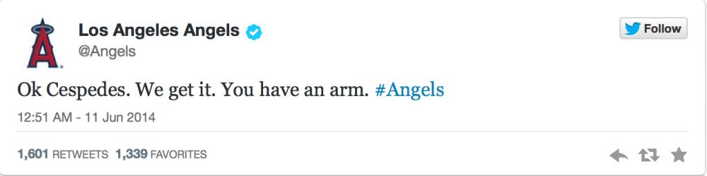 Angels Tweet