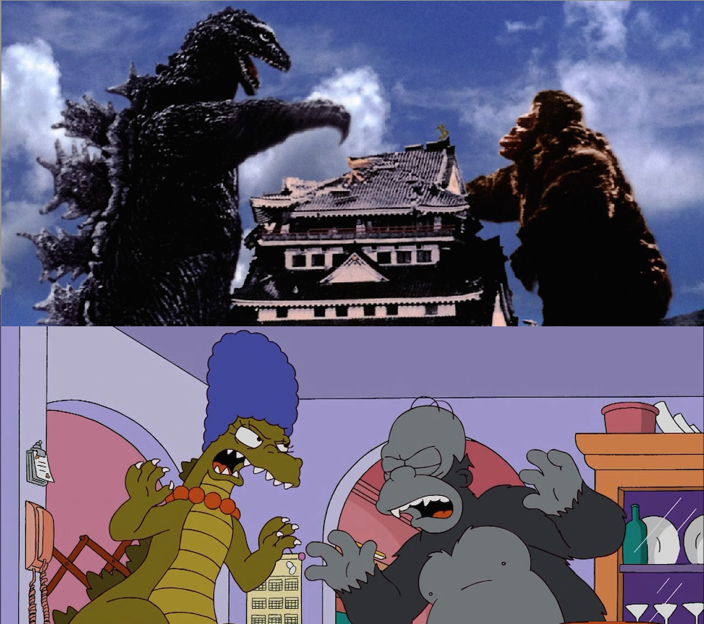 Godzilla King Kong Simpsons
