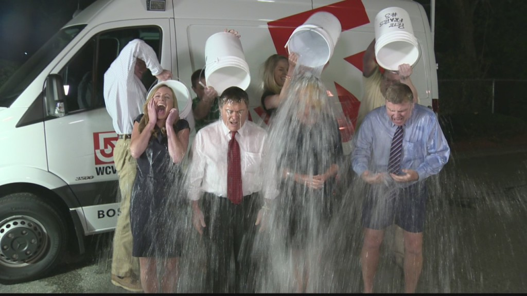 WCVB Boston News Anchors - Ice Bucket Challenge