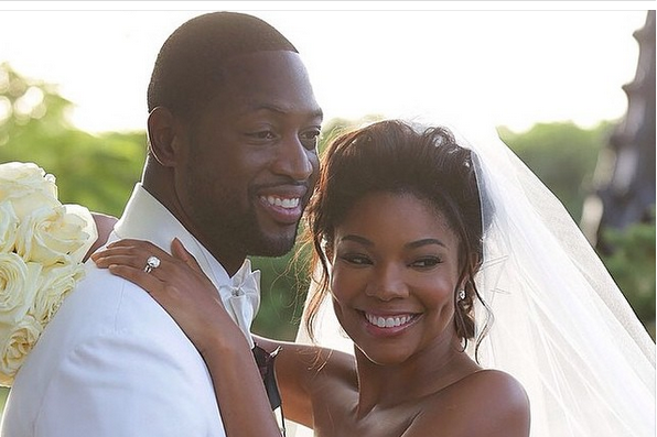 Gabrielle and Dwyane Wedding