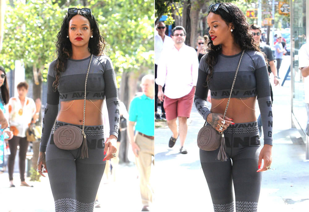 Rihanna in Wang